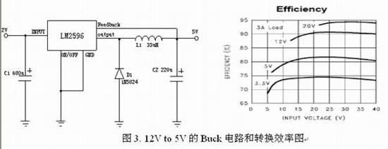 dc电路图,其控制ic采用国家半导体(ns)的lm2596,实际是采用buck电路